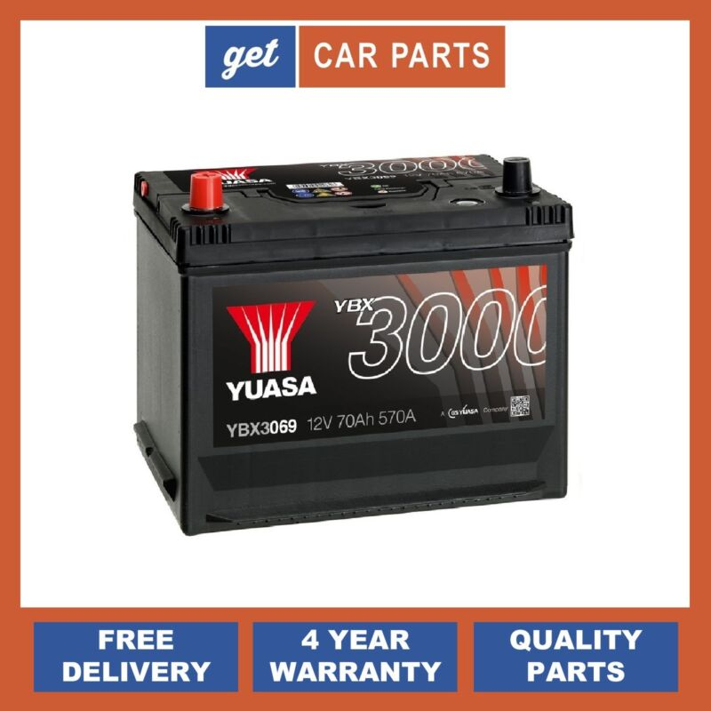 Lexus GS, IS & RC YBX3069 12V 70Ah 570A Yuasa Battery