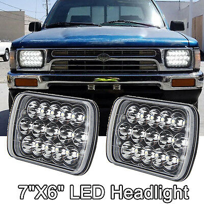 - Pair CREE  H6054 7x6 LED Headlights Sealed Beam for Toyota Pickup Truck Headlamp