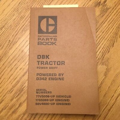 Cat Caterpillar D8 D8k Parts Manual Book Catalog Tractor Bulldozer 77v5006 Up