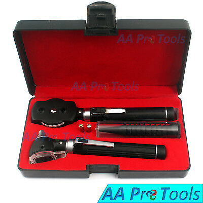Mini Otoscope And Ophthalmoscope Fibre Optics Free Bulb Medical Ent Set