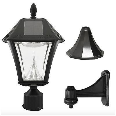 Street Post Mount Lantern (Solar LED Black Outdoor Street Post Pole Wall Mount Light Lamp Lighting Fixture  )