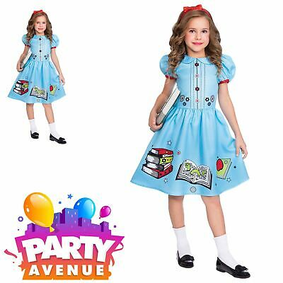 Clever Little Bookworm Book Week Girls Fancy Dress Costume - Bookworm Costume
