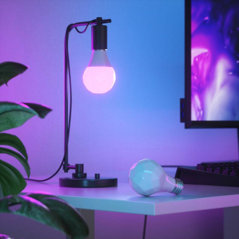 Nanoleaf Essentials A19 Smart Thread Bluetooth LED Bulbs - 3PK - White and Co...
