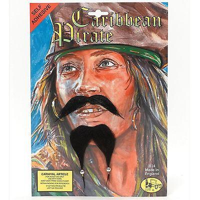 Neu Zum Aufkleben Piratenbart Gesichts- Schnurrbart Spitzbart Jack Tash Sparrow