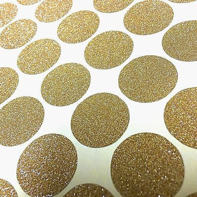Circle Glitter Metallic Gold Silver Sticker Envelope Seal Room Decal Deco ()