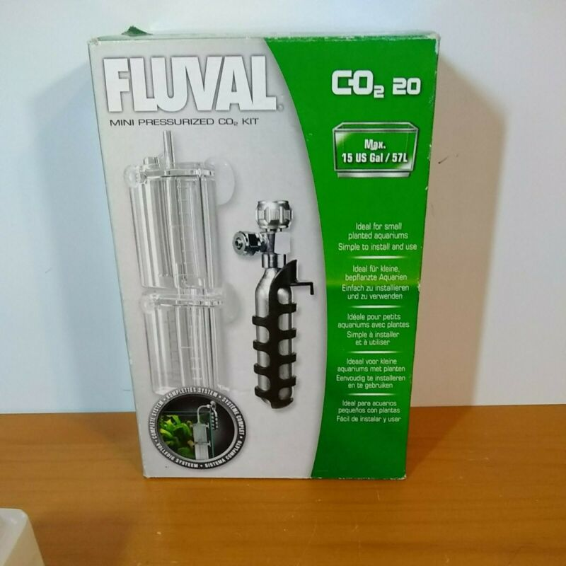 Fluval Mini Pressurized 20g-CO2 Kit - 0.7 ounces , see disc! (open box)