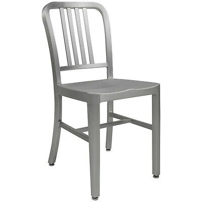 Aluminum 1940s 'Navy' Style Dining Chair Anodized Finish