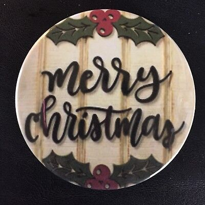 *MERRY CHRISTMAS* BUTTON -Large 3.5
