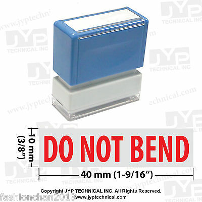 Jyp Pa1040 Pre-inked Rubber Stamp With Do Not Bend