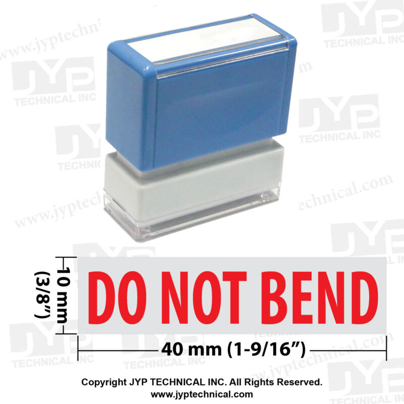 "JYP PA1040  Pre-Inked Rubber Stamp with ""Do Not Bend"""