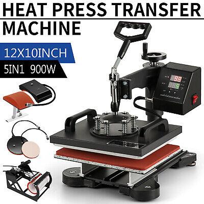 5 In 1 Heat Press Machine Digital Sublimation Swing Away T-shirt Plate Hatmug