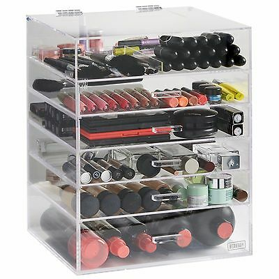 Beautify Extra Large 6 Tier Clear Acrylic Cosmetic Makeup Cube Organizer