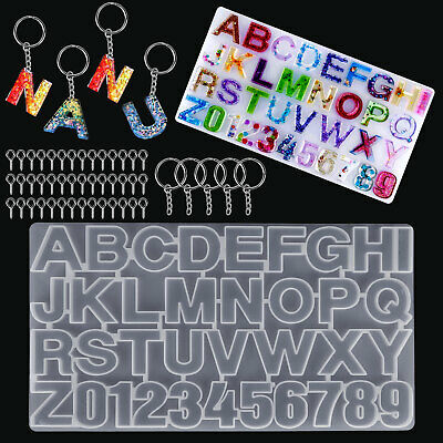 Alphabet Letter Number Silicone Mold Necklace Jewelry Resin Mould DIY Crafts US
