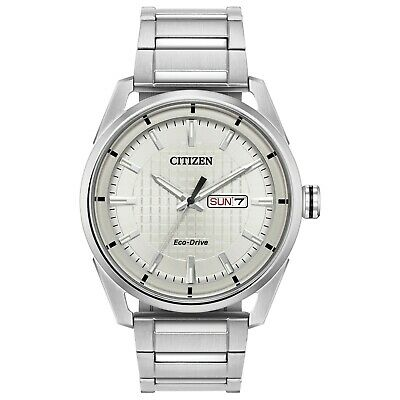 Citizen Eco-Drive CTO Men's Silver-Tone Day/Date Indicator 42mm Watch AW0080-57A