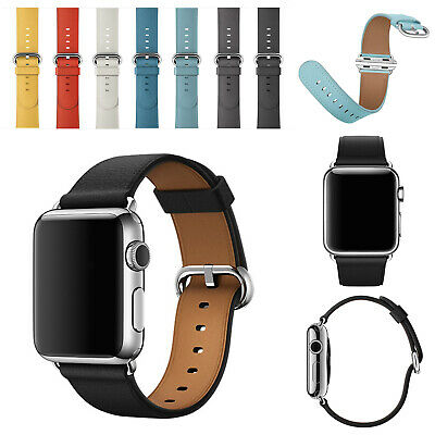 For Apple Watch Genuine Leather Strap Iwatch Band 38-44mm Wristband Series 5 4 3