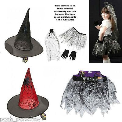 Boys Girls Halloween Witch Vampire Devil Spider Fancy Dress Costume Accessories  ()