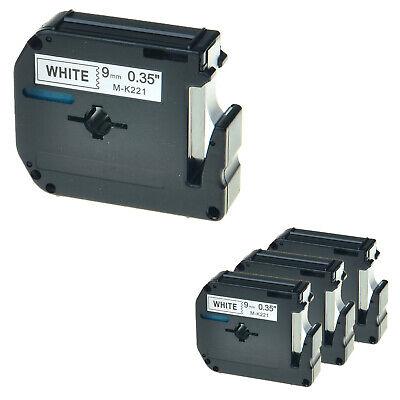 4 Packs Mk-221 Black On White Label Tape Compatible For Brother Pt-85 Pt-90 38