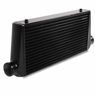 UNIVERSAL SPORT BLACK EDITION FRONT MOUNT INTERCOOLER CORE FMIC ALUMINIUM 75mm