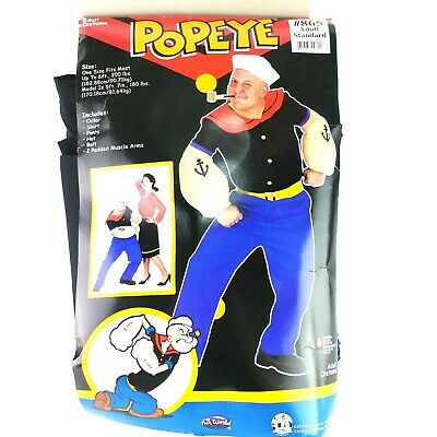 Popeye the Sailor Man Adult Men's Costume Cartoon Movie Halloween Size 42-46 C5