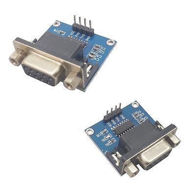 2x Max232 Rs-232 Ttl Converter Adapter Module Arduino Shield Rs232 Serial 3.3 5v
