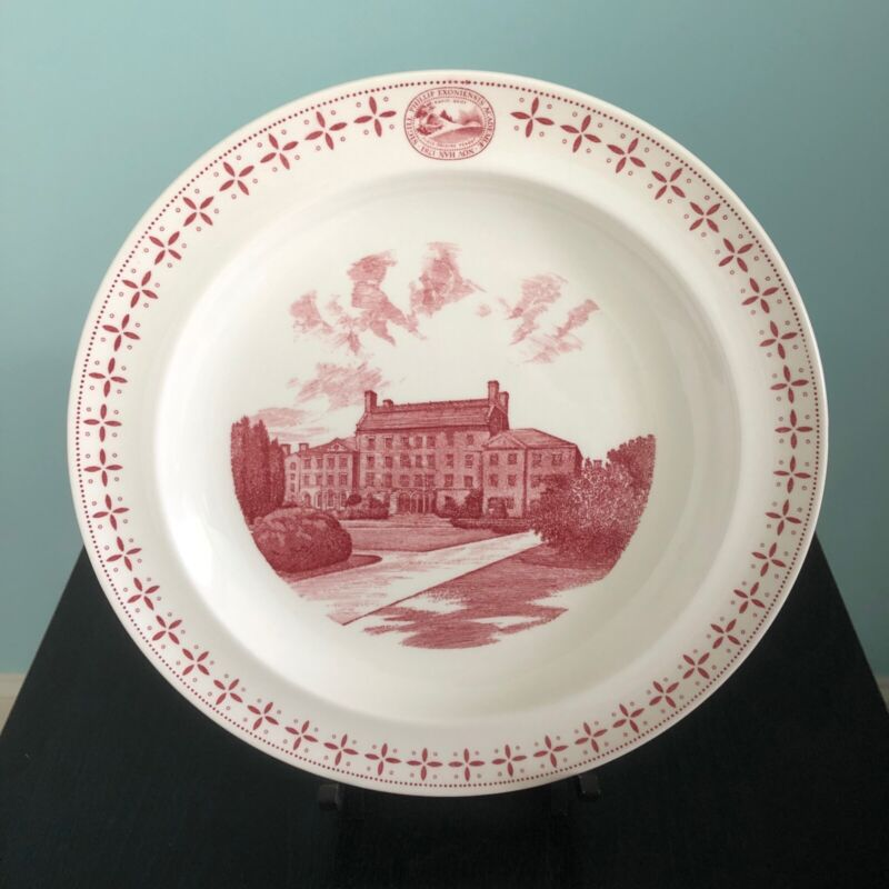 "PHILLIPS EXETER ACADEMY PLATE ""Phillips Hall"" WEDGWOOD, 1956"