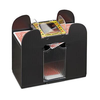 Kartenmischer elektrisch 6 Decks Kartenmischgerät Poker Mischmaschine Schwarz