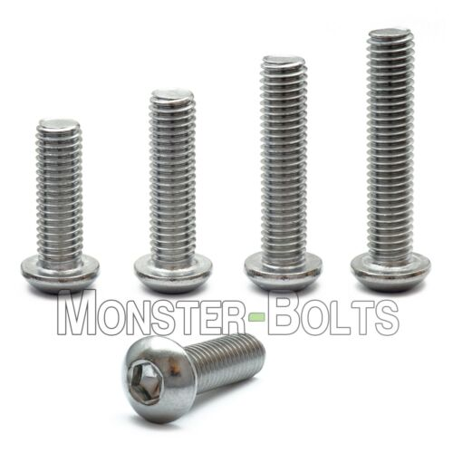 M8 Stainless Steel Button Head Socket Cap Screws A2, Metric ISO 7380 1.25 Coarse