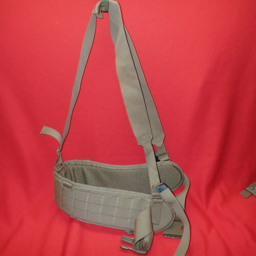 USMC ISSUE COYOTE FILBE PACK PADDED TACTICAL SUB BELT w/ SUSPENDERS SMALL CIF