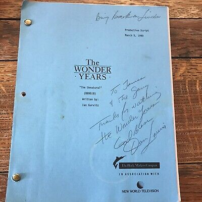 The Wonder Years Original Script Signed Dan Lauria