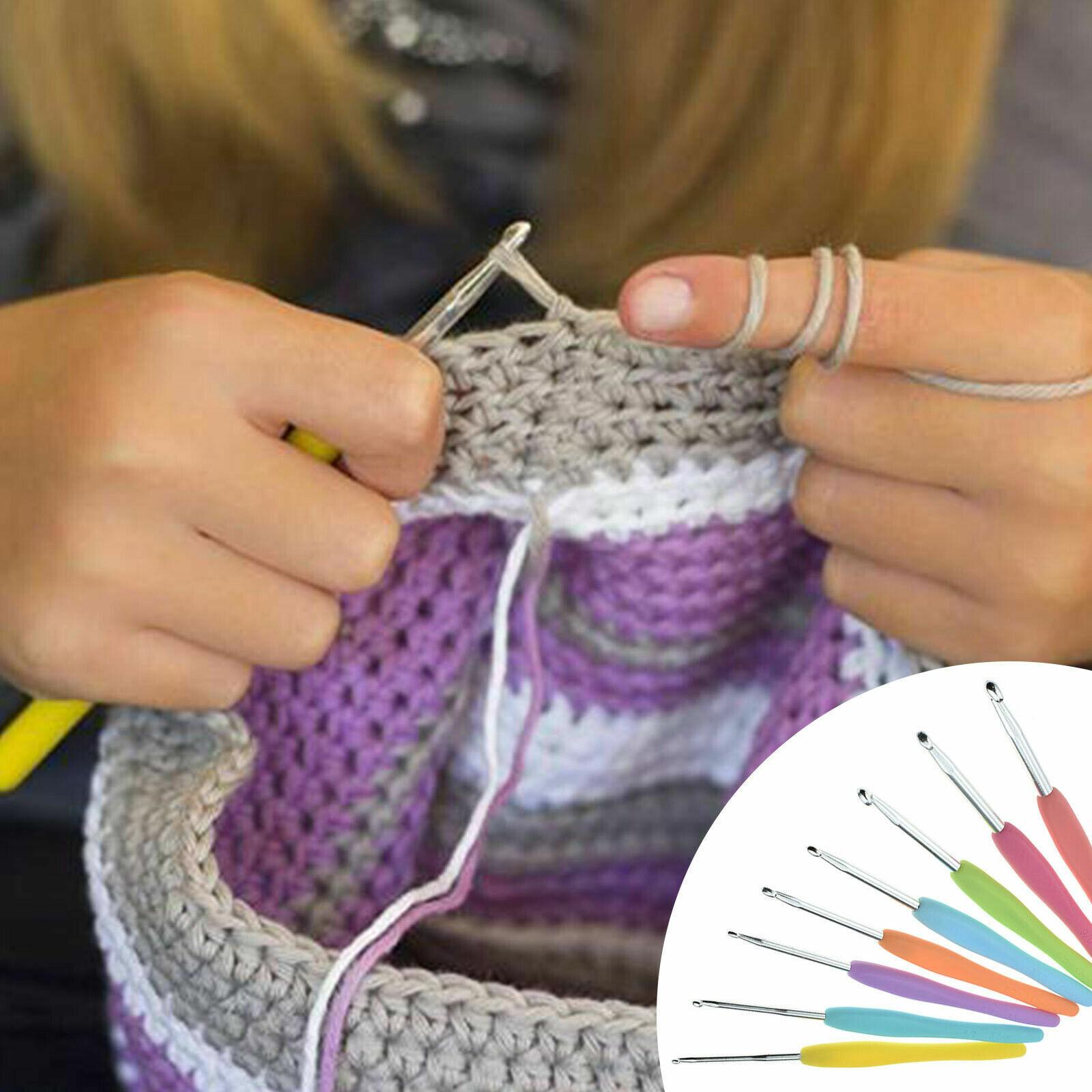 53Pcs Crochet Hooks Knitting Needles Knit Weave Craft Yarn Set Sewing Accessory Crafts
