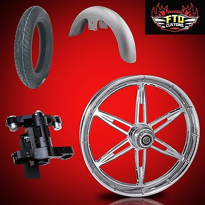 Harley 30 inch Front End Big Wheel kit, Wheel, Tire, Neck, Fender, 6ix Shooter