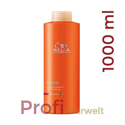Wella Care Enrich Volumen Shampoo für feines Haar, 1000 ml