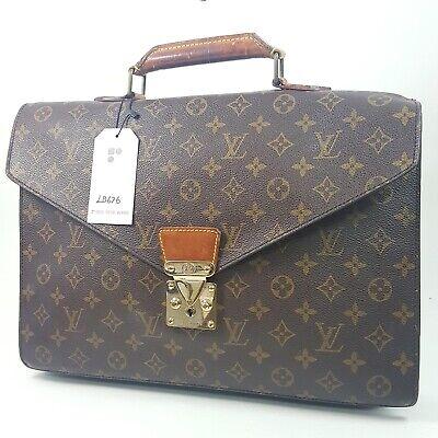 Auth Louis Vuitton Serviette Conseiller Monogram M53331 No Keys Briefcase LB676