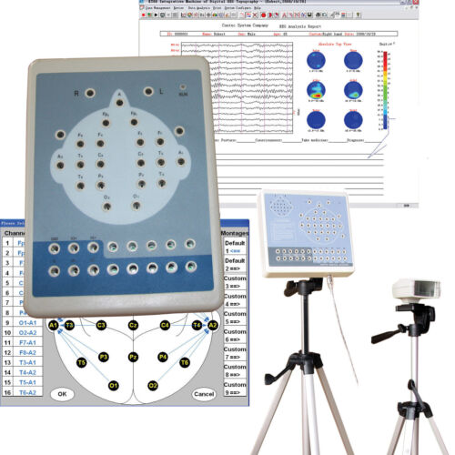 Digital Portable EEG Machine And Mapping System 16-channel Free Software CONTEC