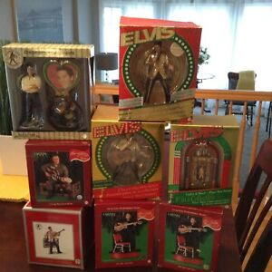 Collection of Elvis Musical Christmas Ornaments