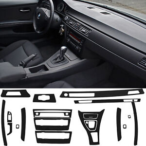 Reflective Carbon Fiber Inner Vinyl Sticker Decal For 2005-2013 BMW 3 Series E90