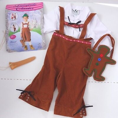HANSEL & Gretel COSTUME + Pinocchio Nose Accessory - Boys 4-6X German Lederhosen](Pinocchio Costumes)