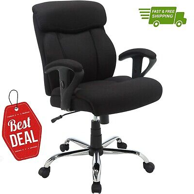 New Black Office Chair Big Tall Manager Mesh Desk Furniture Heavy Duty 300lb Max