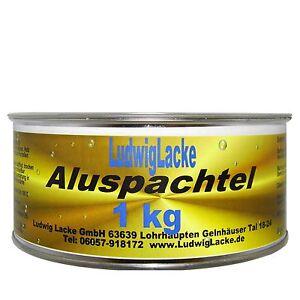 Metallspachtel  1000g  Alu Spachtelmasse  & Härter Autolack Lackierer &Versand