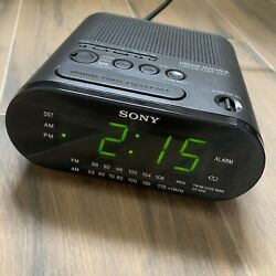 Sony Dream Machine - AM/FM Alarm Clock Radio - Model ICF-C218 Black