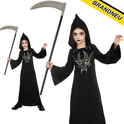 Schwarz Devil Robe Teufelskostüm Satan Teufel Umhang Kostüm - Teufel Kind