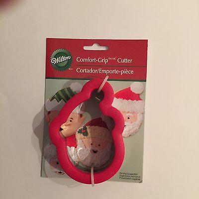 Wilton Christmas Santa Claus Face Comfort Grip Cookie Cutter New 2310-3623