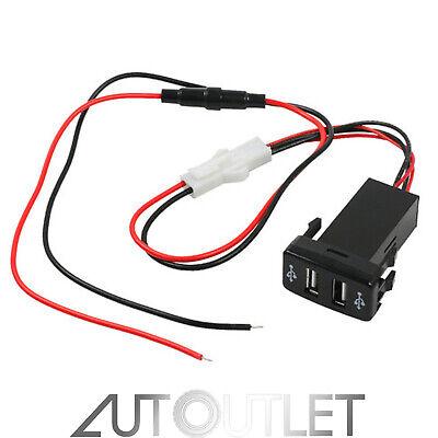 Cargador de Encendedor Coche Para Toyota Doble Puerto 2 USB 12V a...