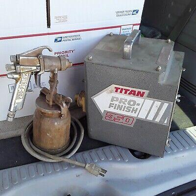 Titan Pro Finish 350 Hvlp Paint Sprayer And Gun