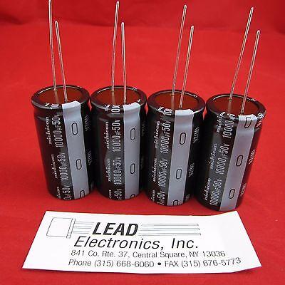 4 Pcs 10000uf 50v Radial Capacitor 105-deg Nichicon Uvz1h103mrd New Parts