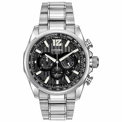 Citizen Eco-Drive Men's CA4170-51E Shadowhawk Chronograph Black Dial 43mm Watch