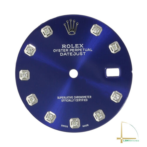 Blue Diamond Dial for Rolex Datejust 16014 16234 116234 36mm Watch