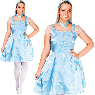 Adult Cinderella Costume Womens Fairytale World Book Day Week Ladies Fancy Dress - Costume Book