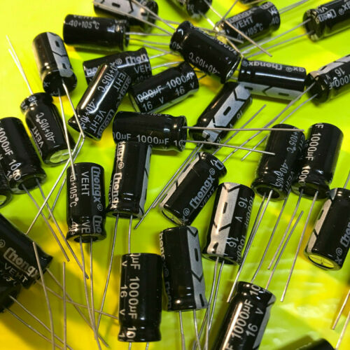 2/5/10/20/50 Piece 1000uF 16V 105C Radial Electrolytic Capacitor 8x16mm