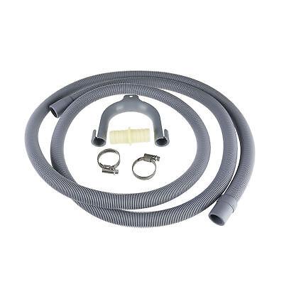 Universal Washing Machine Dishwasher Drain Waste Hose Extension Pipe Kit 2.5M